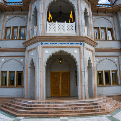 entrance to gurdwara place of worship