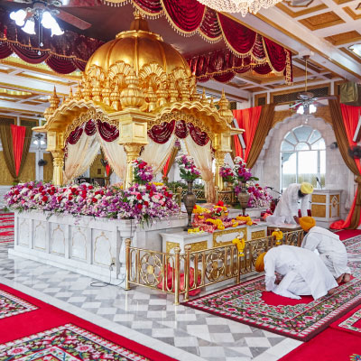 inside a gurdwara place of worship