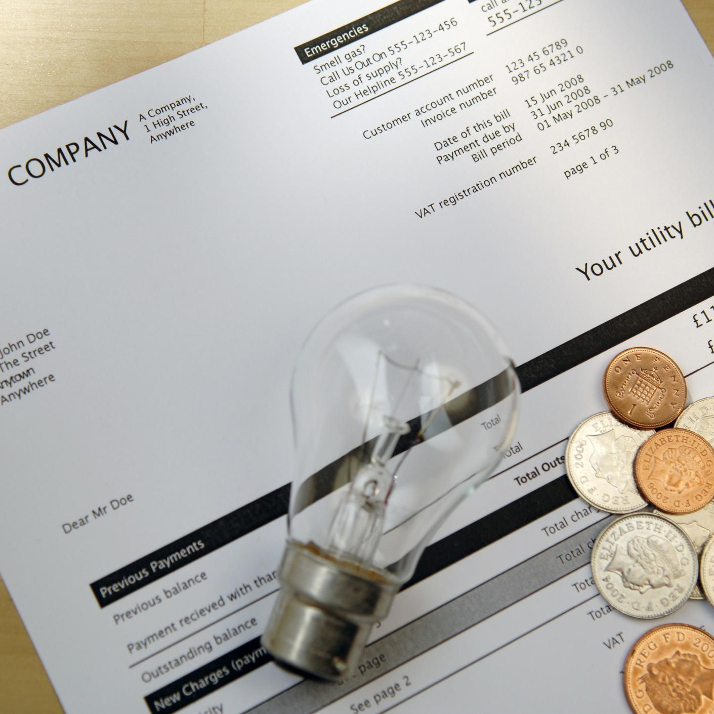 What is the standing charge on my energy bill?